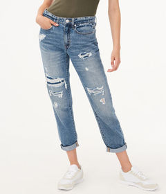 Aeropostale Real Denim Low-Rise Boyfriend Ankle Je