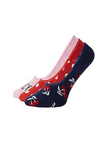 Juicy Couture 3-Pack Graphic Liner Socks NAVY