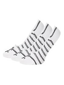 Juicy Couture 3-Pack Striped Liner Socks WHITE