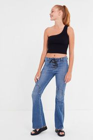 BDG Western Lace-Up Flare Jean