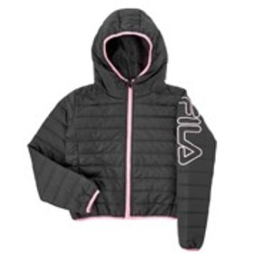 Girls Hooded Bubble Jacket with Contrast Piping (7