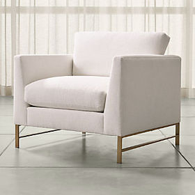 Crate Barrel Genesis Chair with Brushed Brass Base