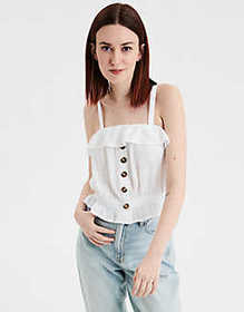 American Eagle AE Button Front Tube Top