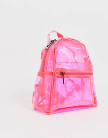 Claudia Canova Transparent Backpack in Pink