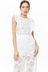Forever21 Cutout Eyelet Jumpsuit