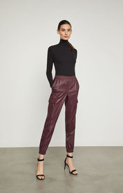 BCBG Cian Faux-Leather Cargo Pant
