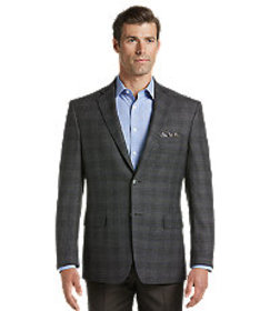 Jos Bank Traveler Collection Traditional Fit Plaid