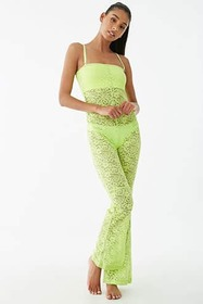 Forever21 Lace Swim Cover-Up Jumpsuit