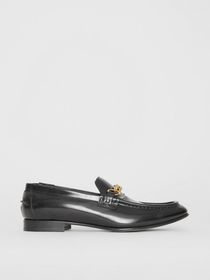 Burberry The Leather Link Loafer in Black