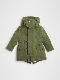 Burberry Detachable Hood Down-filled Parka Coat in