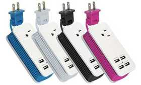 4 Port USB Charging Station Adapter Charger For Ph