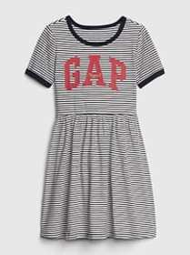 Kids Gap Logo Fit And Flare Dress
