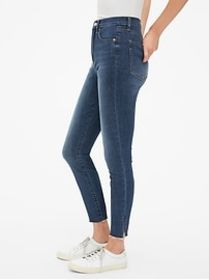 Sky High True Skinny Ankle Jeans with Secret Smoot