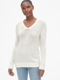 Featherweight V-Neck Pullover Sweater