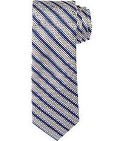 Jos Bank 1905 Collection Textured Stripe Tie CLEAR