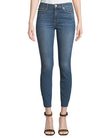 7 For All Mankind Gwenevere Faded Cropped Skinny J