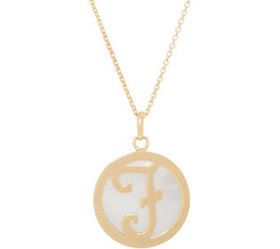 """""""As Is"""" Honora Mother-of-Pearl Initial Necklace, 1"""