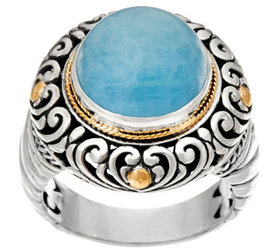 """""""As Is""""Artisian Crafted Sterling Silver & 18K Gold"""