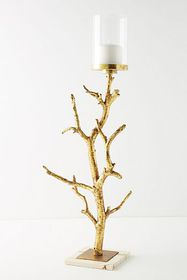 Anthropologie Golden Branch Pillar Holder