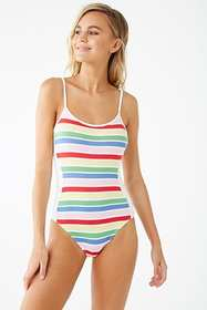 Forever21 Multicolor Striped Bodysuit