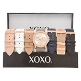 XOXO Womens Crystal Chronograph Rose Gold Watch &