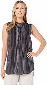 Vince Camuto Sleeveless Delicate Strands Henley Tu