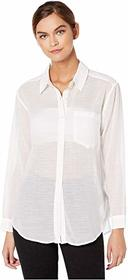 7 For All Mankind High-Low Tie Shirt