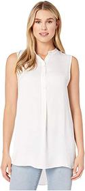Vince Camuto Sleeveless Rumple Henley Tunic