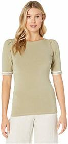 LAUREN Ralph Lauren Ribbon-Sleeve Boat Neck Top