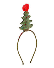 Bari Lynn Girls' Crystal Christmas Tree Headband w