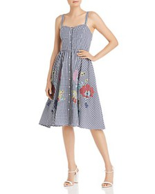 FRENCH CONNECTION - Lavande Gingham & Floral Midi