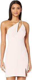 BCBGMAXAZRIA One Shoulder Cut Out Short Cocktail D