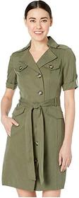 Tahari by ASL Petite 3/4 Sleeve Modal Safari Dress