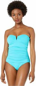 Tommy Bahama Pearl V-Front Bandeau One-Piece Swims
