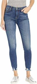 7 For All Mankind High-Waist Ankle Skinny Jeans in