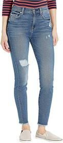 7 For All Mankind High-Waist Ankle Skinny in Femme