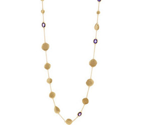 """""""As Is"""" Melinda Maria Disc Station Necklace-Emma -"""
