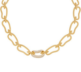 """""""As Is"""" Heritage Organic Oval Link Necklace Goldto"""