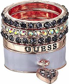 GUESS Five-Piece Mixed Band Ring Set