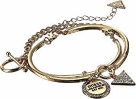 GUESS Two-Piece Bangle Set with Charms