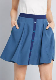 ModCloth ModCloth You Sassy Thing Skater Skirt Tea