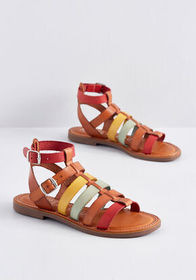 Hues to Behold Leather Sandal Rainbow