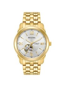 Bulova Men's Gold-Tone Stainless Steel Automatic W
