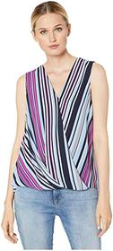Vince Camuto Sleeveless Wrap Front Colorful Boardw