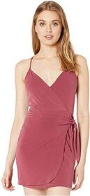 BCBGeneration Side Knot Surplice Dress YDM6210305