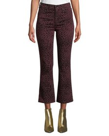 Rag & Bone Hana High-Rise Cropped Cheetah-Print Je