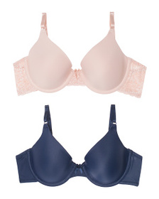 MAIDENFORM 2pk Lace And Tailored Bra