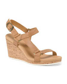 TEVA Strappy Leather Wedge Sandals
