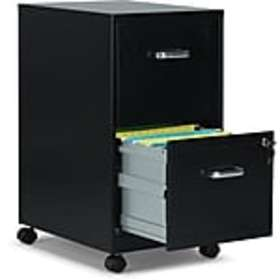 Staples 2-Drawer Vertical File Cabinet, Locking, L