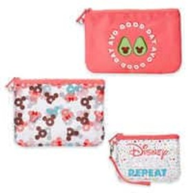 Disney Mickey and Minnie Mouse Pouch Set